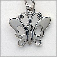 Butterfly Charm Round Wings